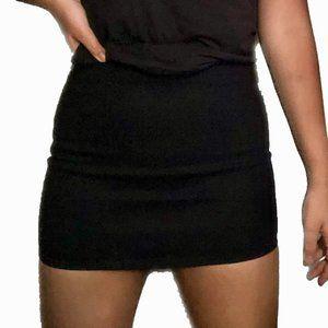 Bodycon Mini Skirt - Black